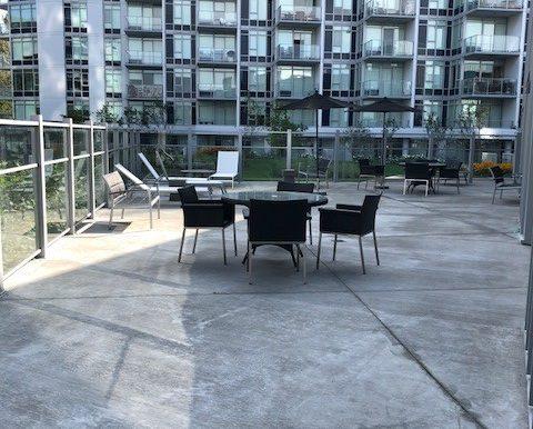 Balcony off of pool area