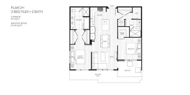 205 Floor Plan 2H