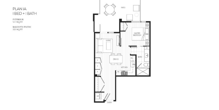 101 Floor Plan 1A