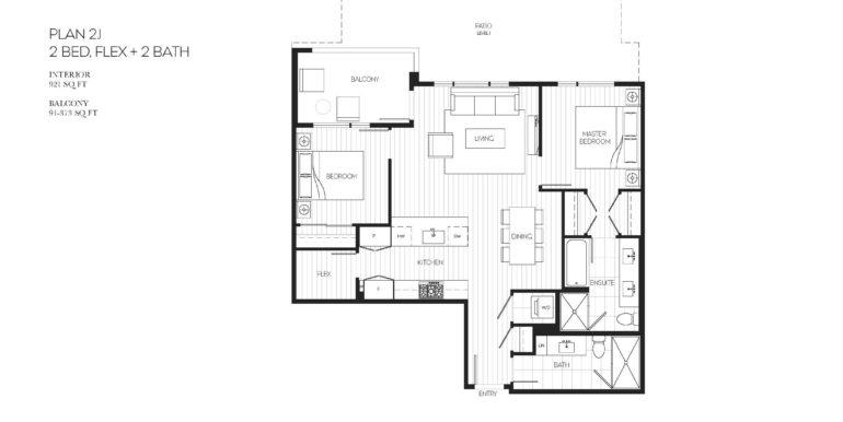 103 Floor Plan 2J