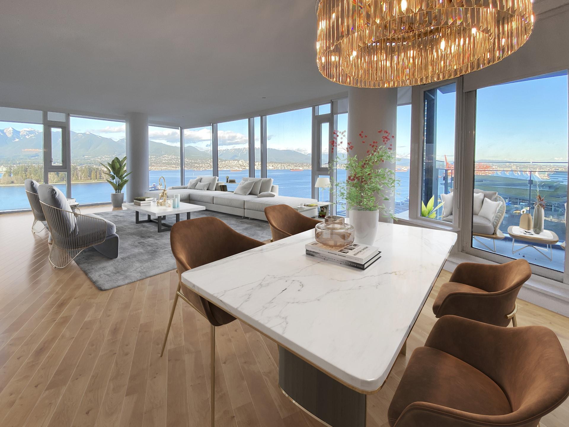 Opulent Waterfront Residence, Lavish Luxury, Jetliner Views @ Carina